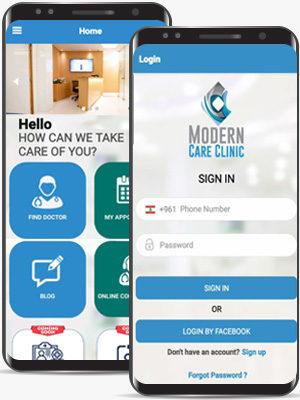 Modern care Mobile App